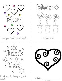 I Love you Mom! Book