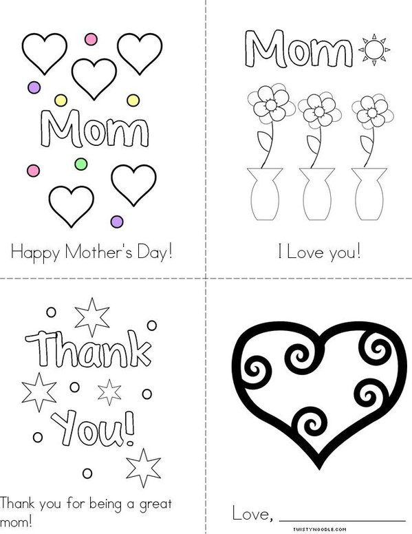 I Love you Mom! Mini Book