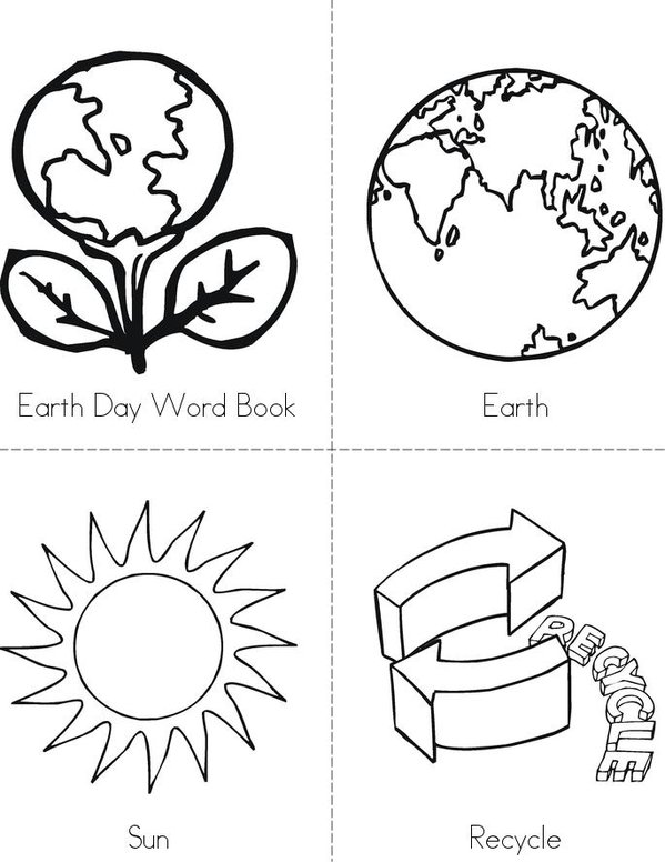 Earth Day Word Book Mini Book - Sheet 1