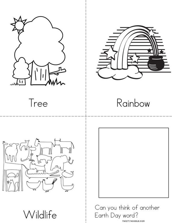 Earth Day Word Book Mini Book - Sheet 2