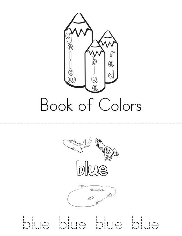 Colors Mini Book - Sheet 1