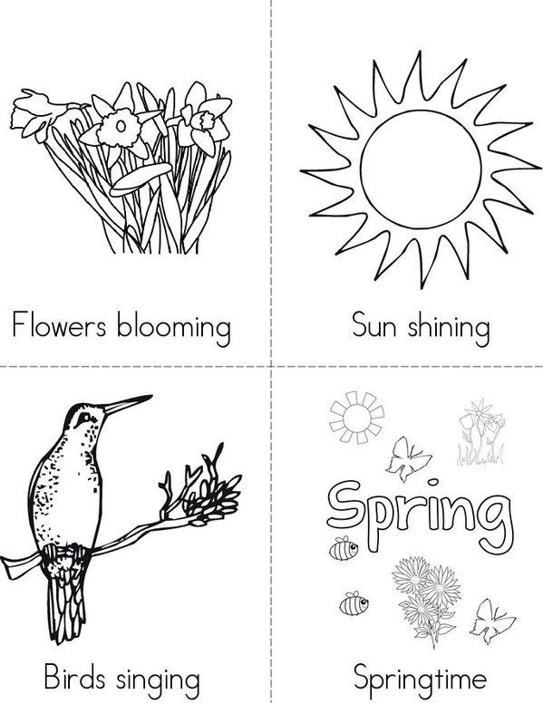 Spring Time Mini Book - Sheet 1