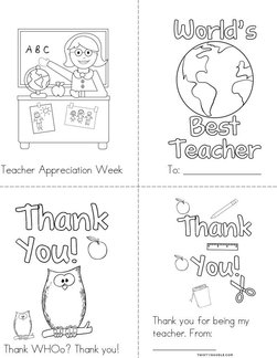 Teacher Appreciation Book