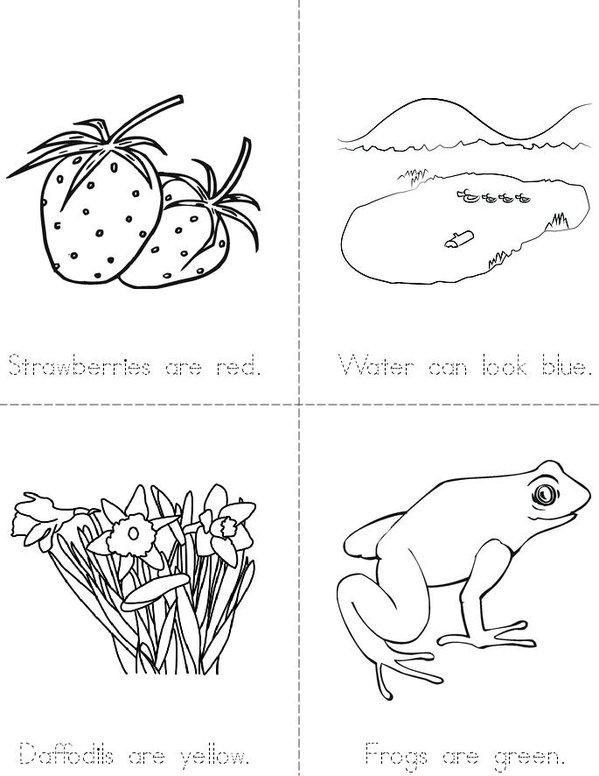 A World of Colors Mini Book - Sheet 1