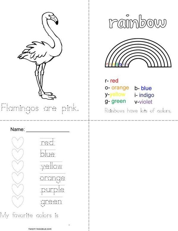 A World of Colors Mini Book - Sheet 3
