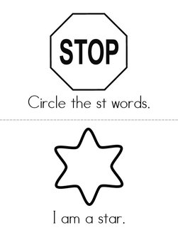 Circle the ST Words Book