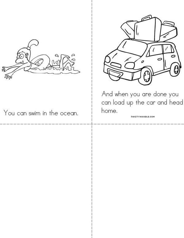 Beach Fun!! Mini Book - Sheet 2