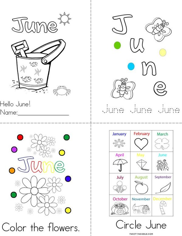 June Mini Book