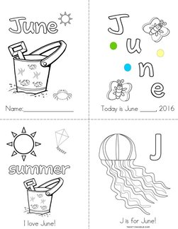 J is for June Book