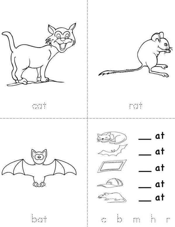 Word Family --at Mini Book - Sheet 1