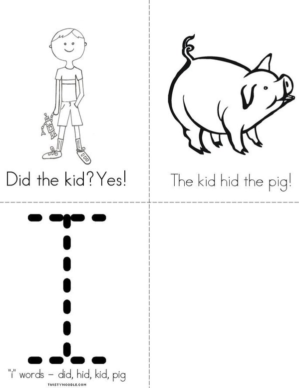 Who Hid the Pig? Mini Book - Sheet 2
