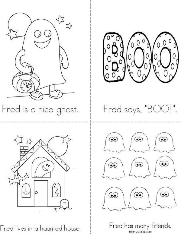 Fred the Friendly Ghost Mini Book