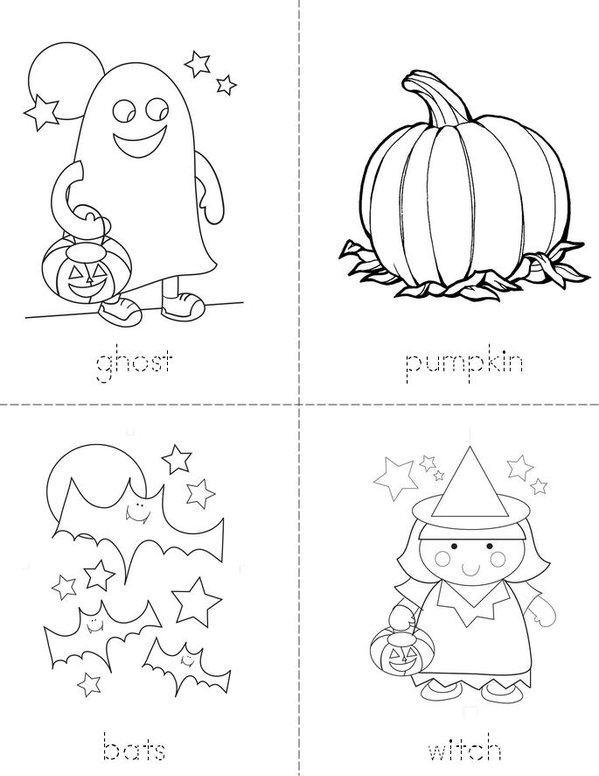 halloween words mini book sheet 1 - Halloween Vocab Words