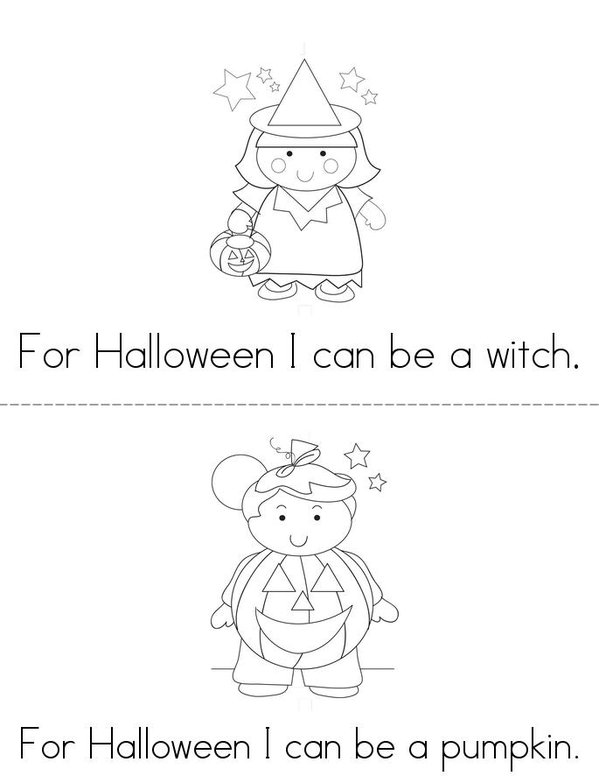 Trick or Treat Mini Book - Sheet 2