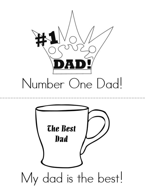Happy Fathers Day Mini Book - Sheet 1