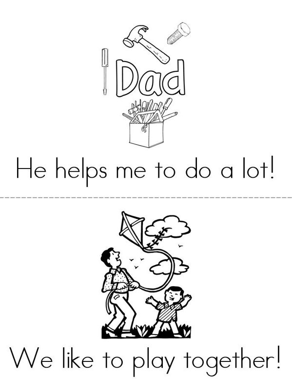 Happy Fathers Day Mini Book - Sheet 2