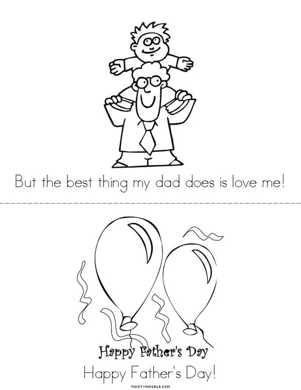 Happy Fathers Day Mini Book - Sheet 3