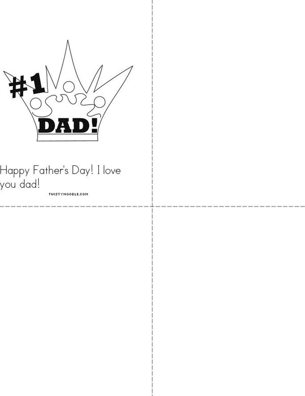 Father's Day Poem! Mini Book - Sheet 2