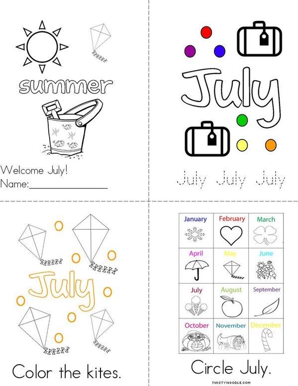 Welcome July! Mini Book