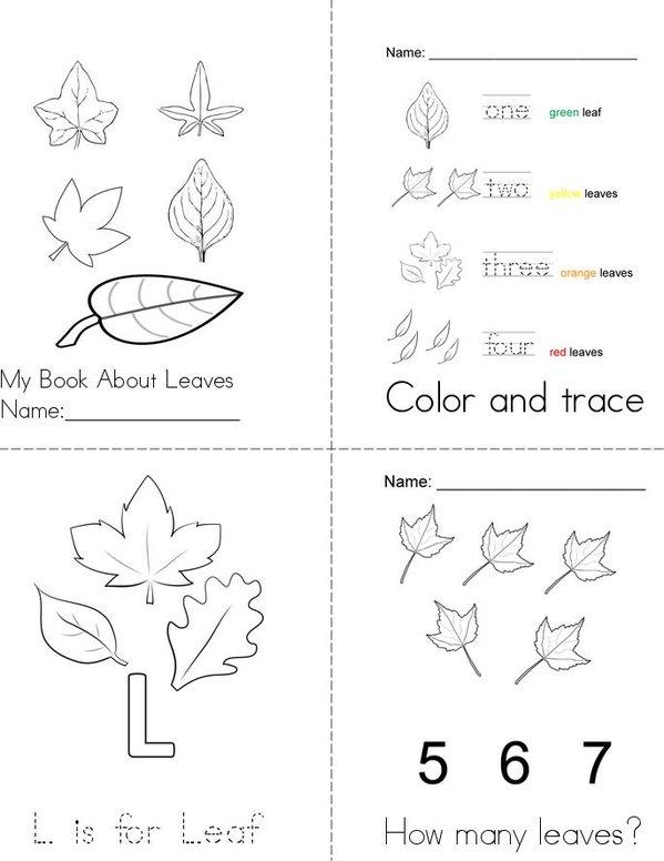 My Leaf Book Mini Book - Sheet 1