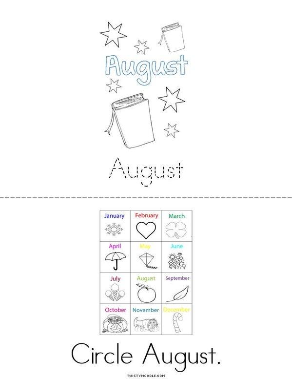 August Mini Book - Sheet 2