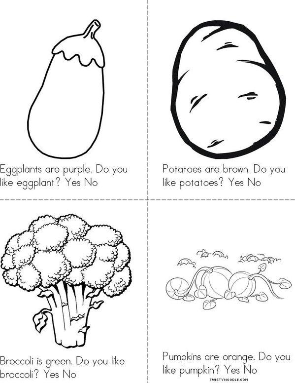 Do you like veggies? Mini Book - Sheet 2