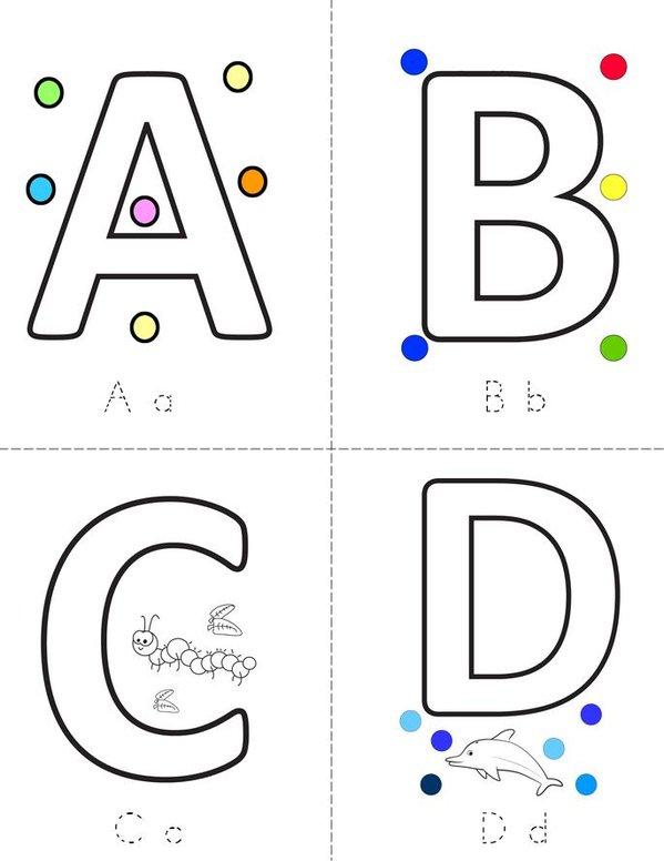 Letters Mini Book - Sheet 1