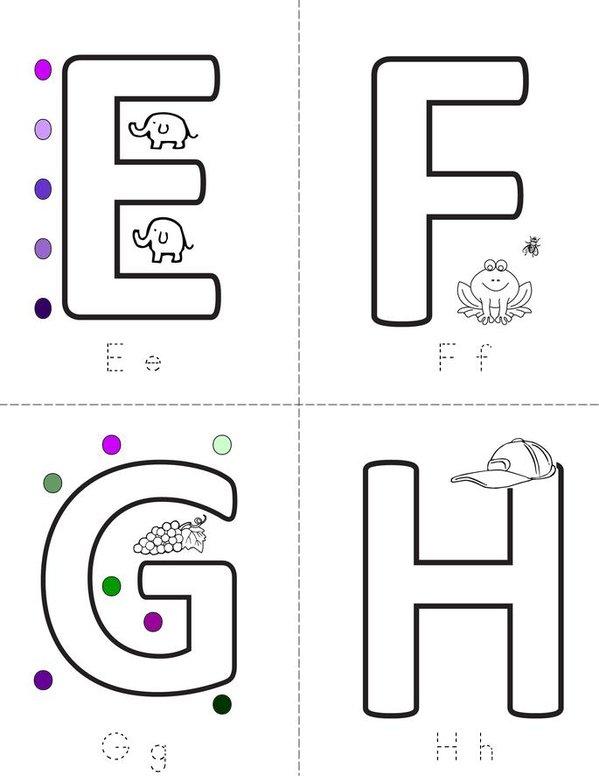 Letters Mini Book - Sheet 2