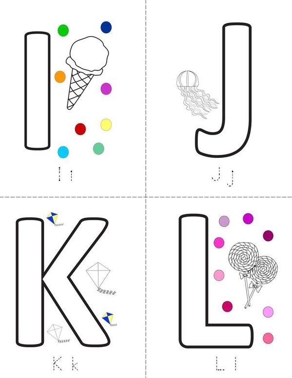 Letters Mini Book - Sheet 3