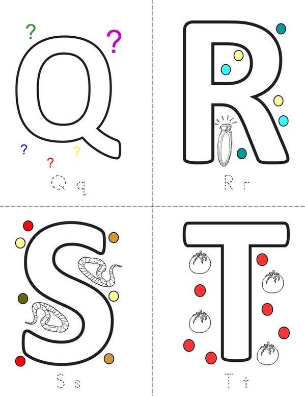 Letters Mini Book - Sheet 5