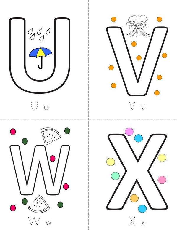 Letters Mini Book - Sheet 6