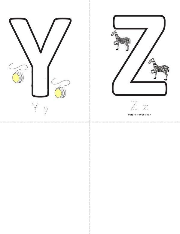 Letters Mini Book - Sheet 7