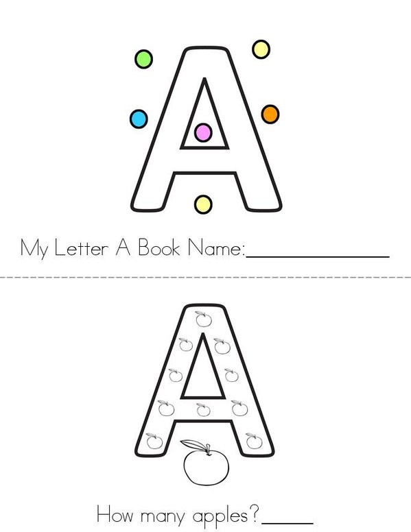 A is awesome! Mini Book - Sheet 1