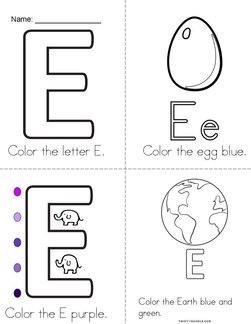 I See a Colorful Letter E! Book