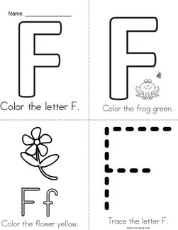 I See a Colorful Letter F! Book