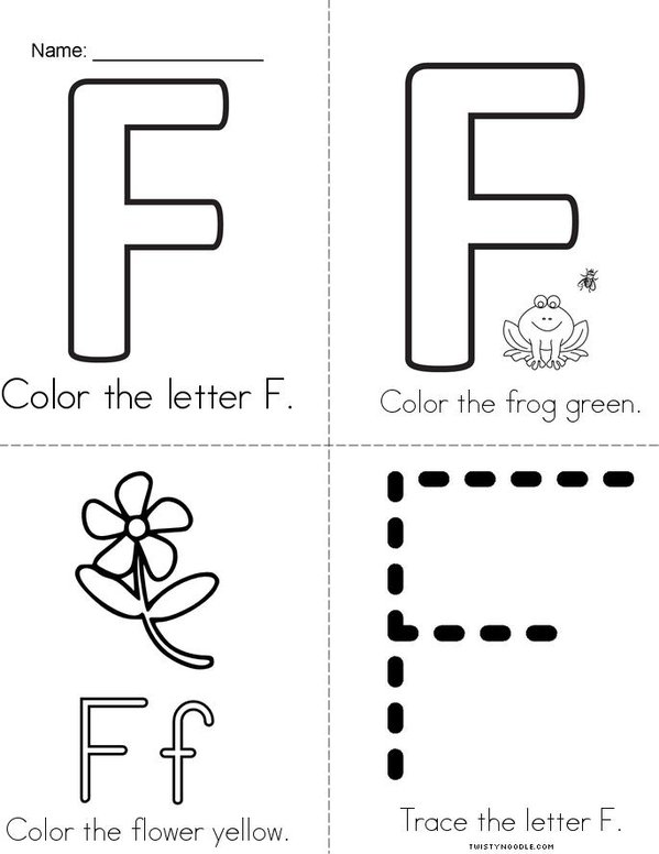 I See a Colorful Letter F! Mini Book