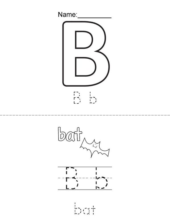 B is for...  Mini Book - Sheet 1