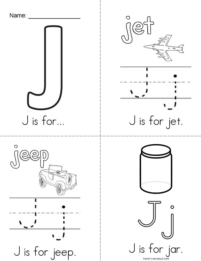 J is for Book - Twisty Noodle