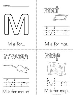 M is for...  Book