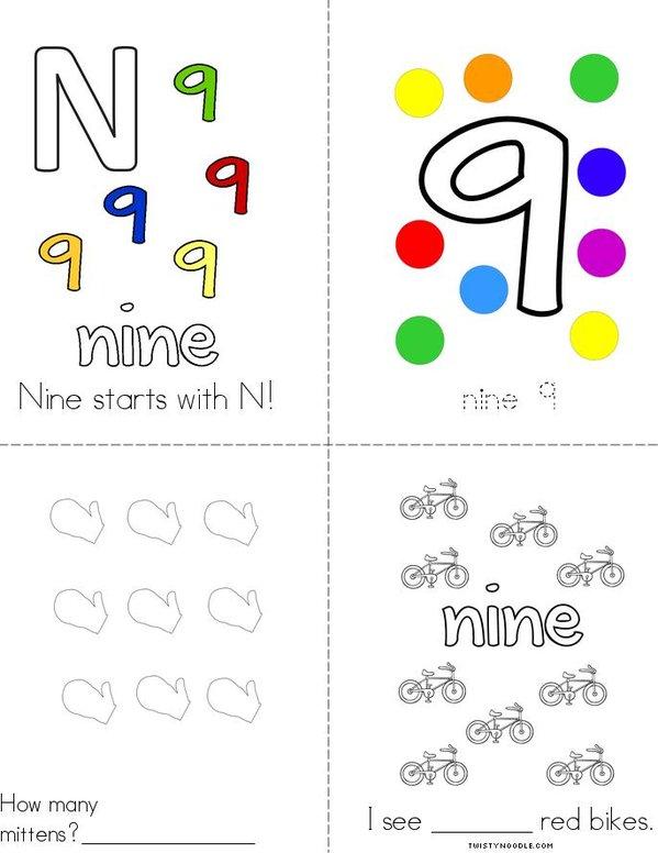 Nine Starts With N! Mini Book