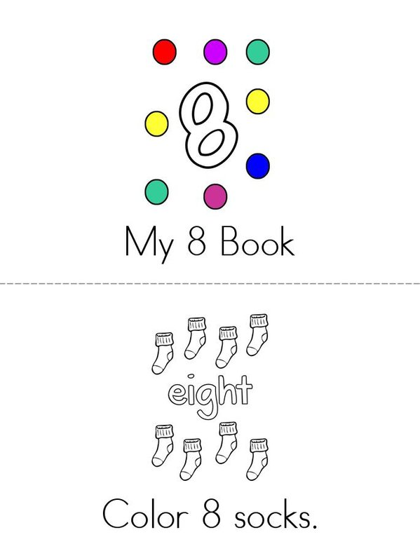 My 8 Book Mini Book - Sheet 1