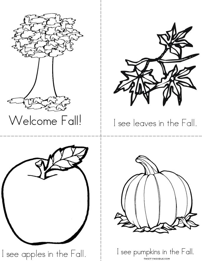 Welcome Fall Book - Twisty Noodle