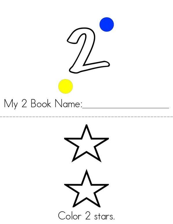 My 2 Book Mini Book - Sheet 1