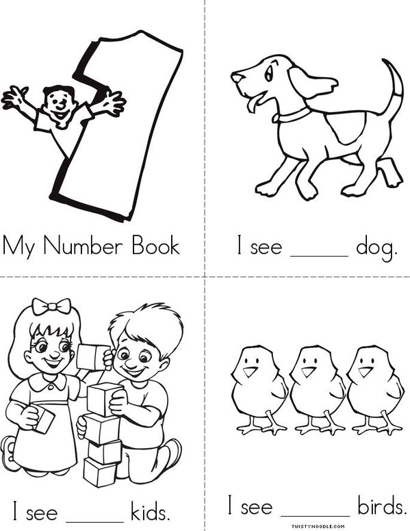 Numbers 1-5 Book - Twisty Noodle