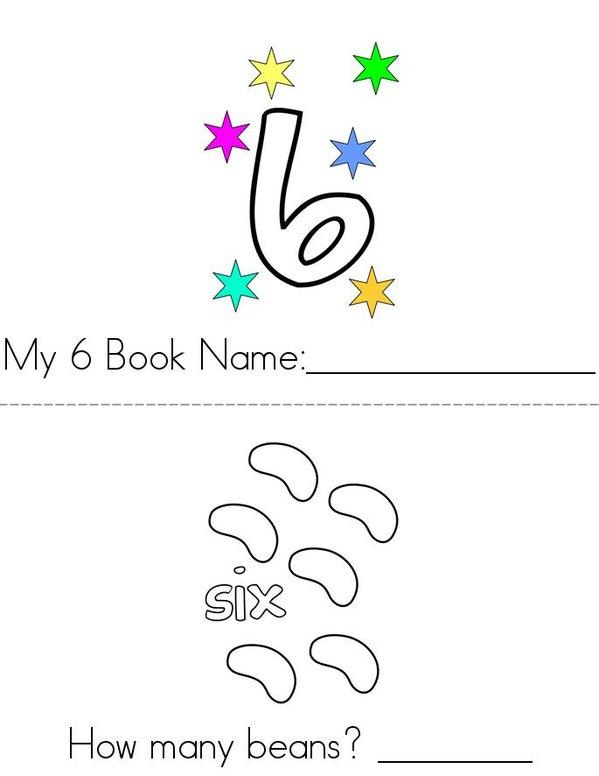 My 6 Book Mini Book - Sheet 1