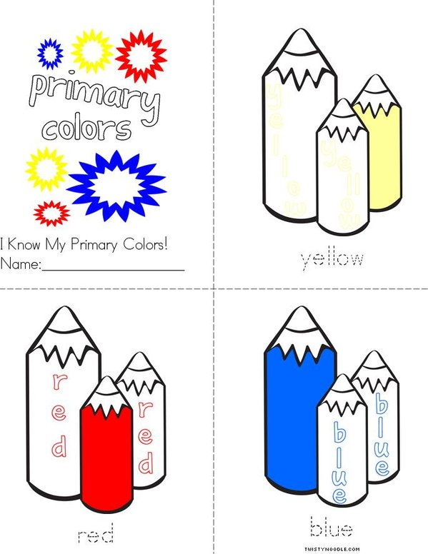 I Know My Primary Colors Mini Book