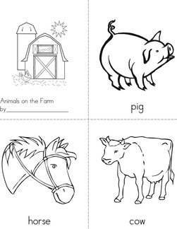 Animals on the Farm Book
