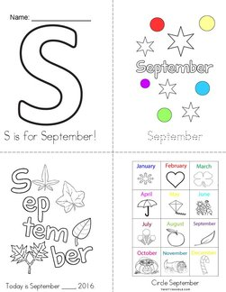 S is for September! Book