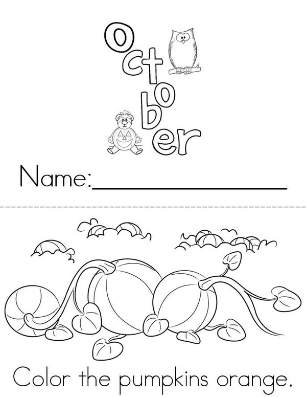 Welcome October Book - Twisty Noodle