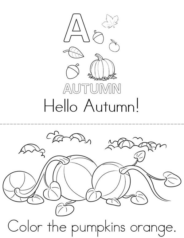 Hello Autumn! Mini Book - Sheet 1